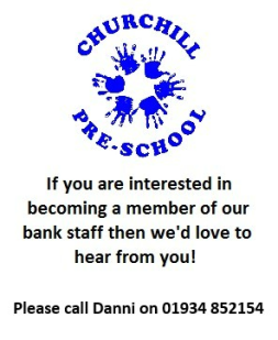 If you are interested in becoming a member of our bank staff please call Mel on 01934 852154